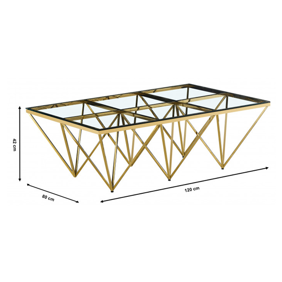 Verona Large Clear Glass Coffee Table With Gold Steel Legs_3