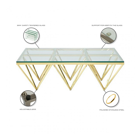 Verona Large Clear Glass Coffee Table With Gold Steel Legs_4