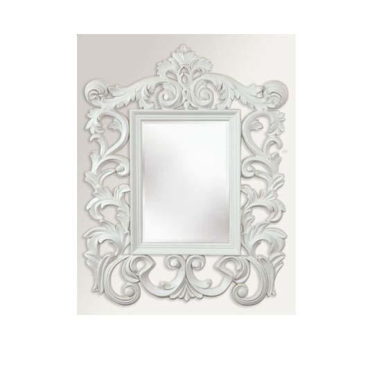 Versailles White Wall Mirror