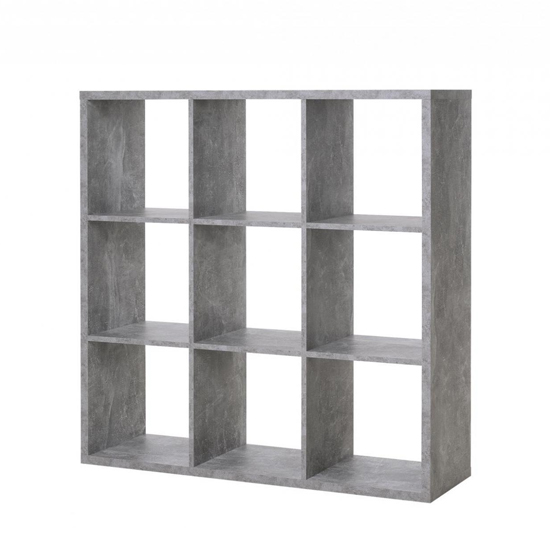 Version Shelving Unit Square In Structured Concrete