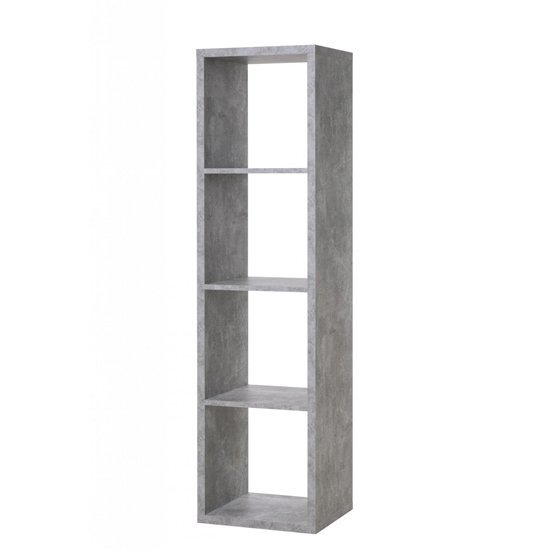 Version Shelving Unit In Structured Concrete With 4 Shelves