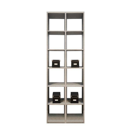 Version Wooden Shelving Unit In Sonoma Oak With 12 Compartments