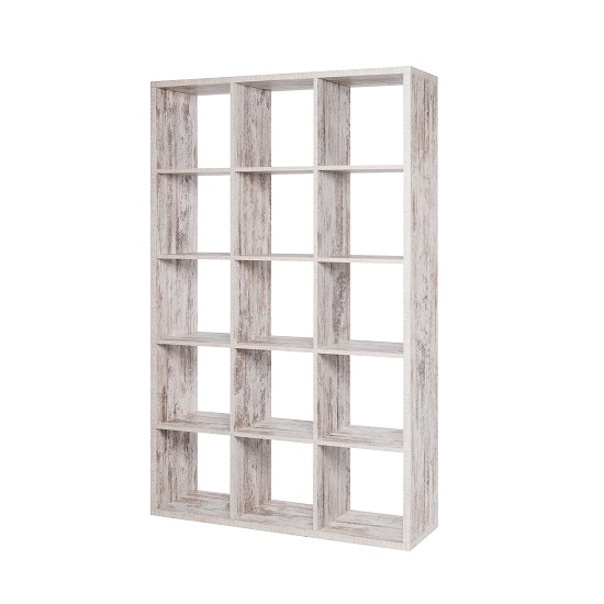 Version Shelving Unit In Fresco Oak With 15 Compartments_2