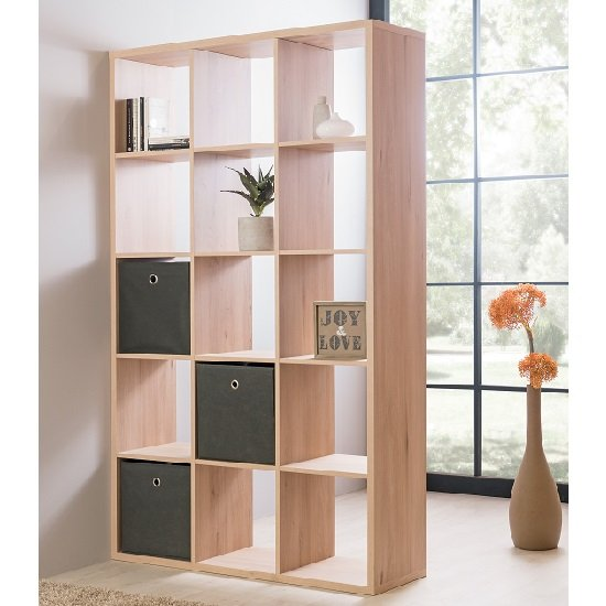 Version Shelving Unit In Sonoma Oak With 15 Compartments_1