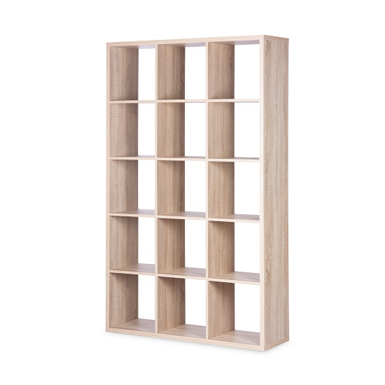 Version Shelving Unit In Sonoma Oak With 15 Compartments_2