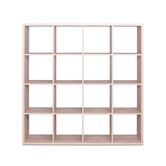 Version Shelving Unit Square In Sonoma Oak With 16 Compartments_3