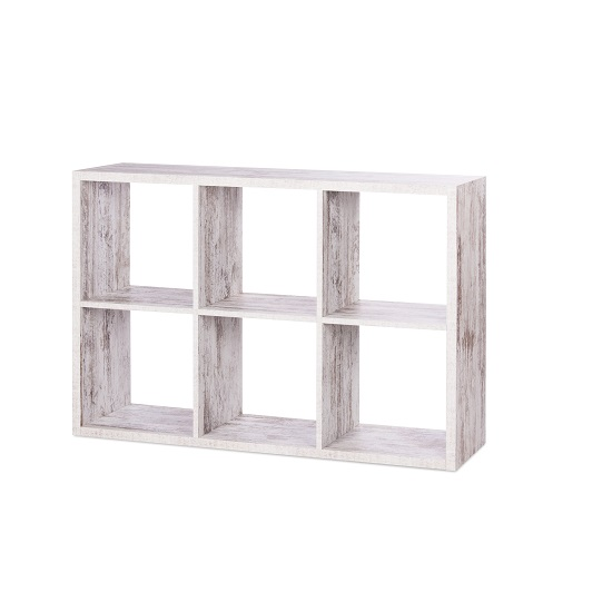 Version Shelving Unit In Fresco Oak With 6 Compartments_4