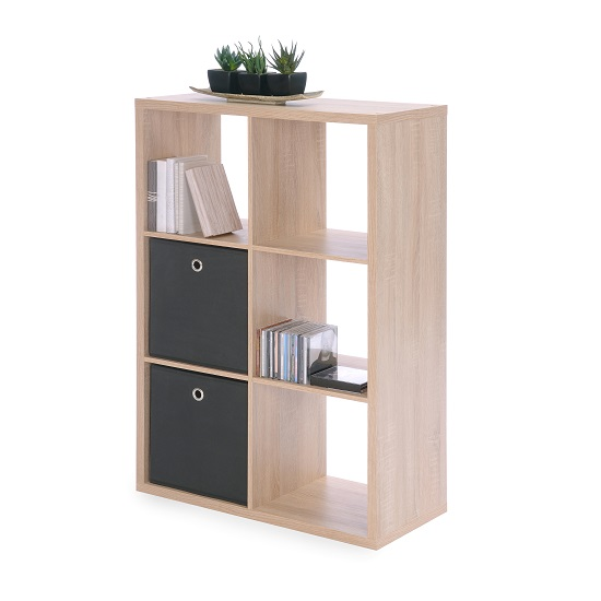 Version Shelving Unit In Sonoma Oak With 6 Compartments