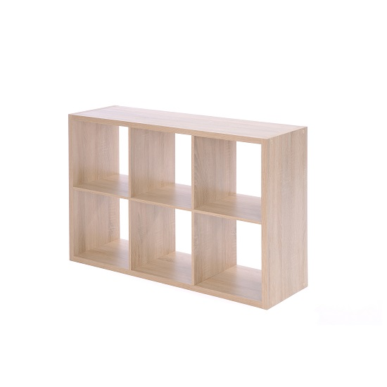 Version Shelving Unit In Sonoma Oak With 6 Compartments_3