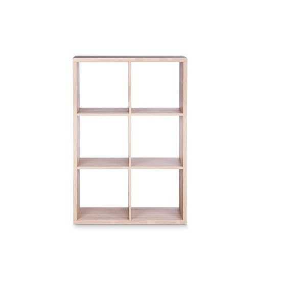 Version Shelving Unit In Sonoma Oak With 6 Compartments_2
