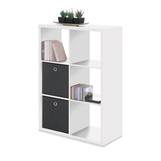 Version Shelving Unit In White With 6 Compartments_1