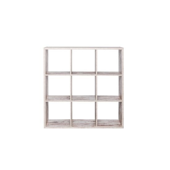 Version Shelving Unit Square In Fresco Oak With 9 Compartments_2