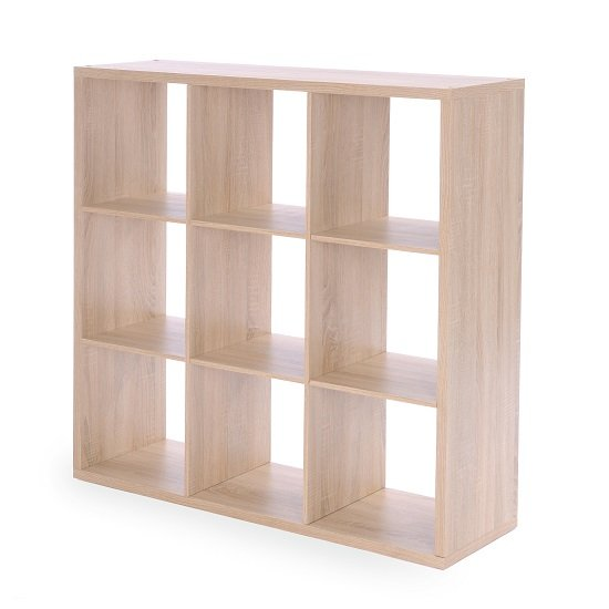 Version Shelving Unit Square In Sonoma Oak With 9 Compartments_2