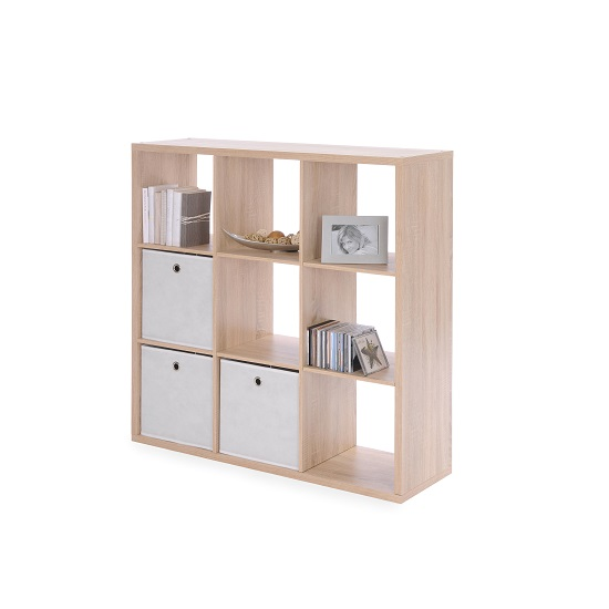 Version Shelving Unit Square In Sonoma Oak With 9 Compartments_4