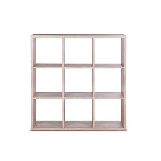Version Shelving Unit Square In Sonoma Oak With 9 Compartments_3