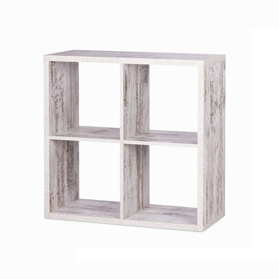 Version Cube Display Unit In Fresco Oak With 4 Compartment_2