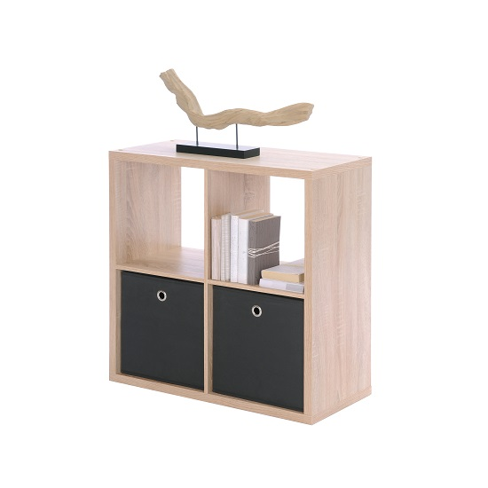 Version Cube Display Unit In Sonoma Oak With 4 Compartment
