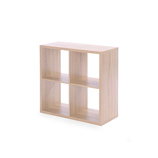 Version Cube Display Unit In Sonoma Oak With 4 Compartment_2