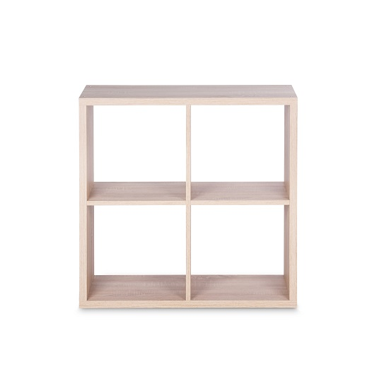 Version Cube Display Unit In Sonoma Oak With 4 Compartment_3