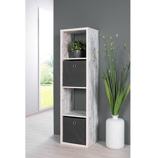 Photo of Version shelving unit in fresco oak with 4 compartments