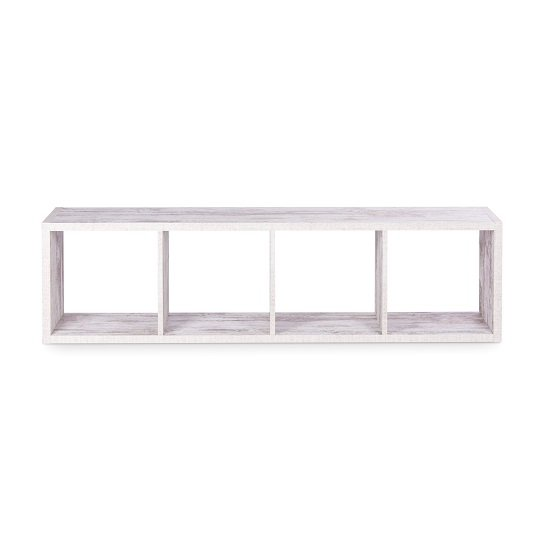 Version Shelving Unit In Fresco Oak With 4 Compartments_4