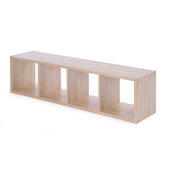 Version Shelving Unit In Sonoma Oak With 4 Compartments_3