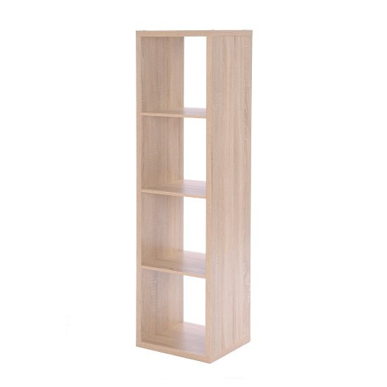 Photo of Version shelving unit in sonoma oak with 4 compartments