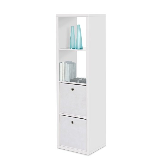 Photo of Version shelving unit in white with 4 compartments