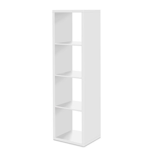 Version Shelving Unit In White With 4 Compartments_2
