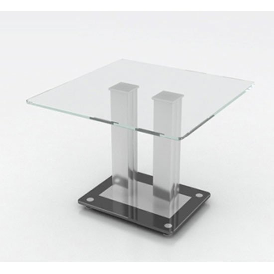 Verve Lamp End Table With Clear Glass Top