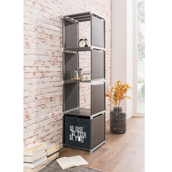 Photo of Vetra shelving unit in anthracite with 4 shelf