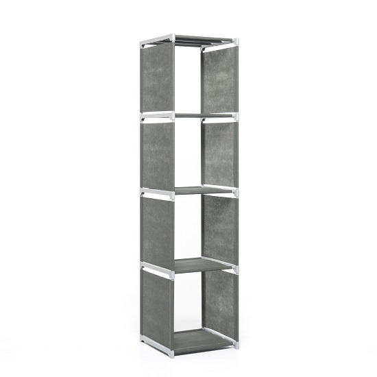 Vetra Shelving Unit In Anthracite With 4 Shelf_2
