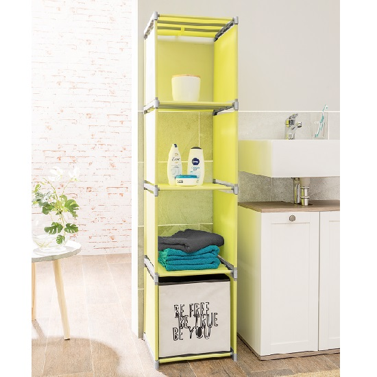 Vetra Modern Shelving Unit In Apple Green With 4 Shelf_2