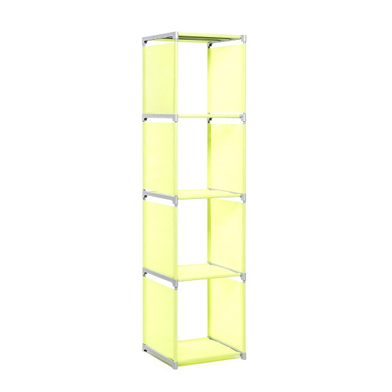 Vetra Modern Shelving Unit In Apple Green With 4 Shelf_3