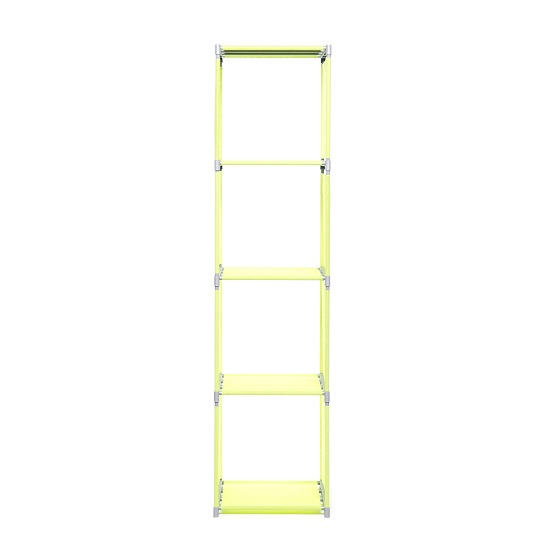 Vetra Modern Shelving Unit In Apple Green With 4 Shelf_4
