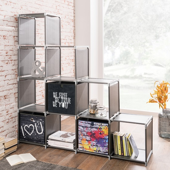 Vetra Display Stand In Anthracite With 10 Compartments