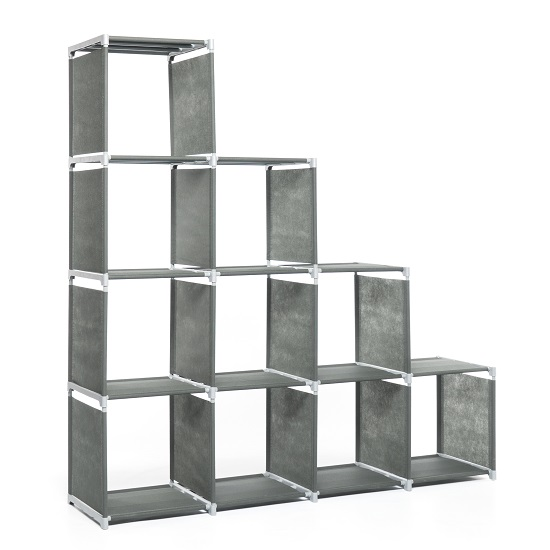 Vetra Display Stand In Anthracite With 10 Compartments_2