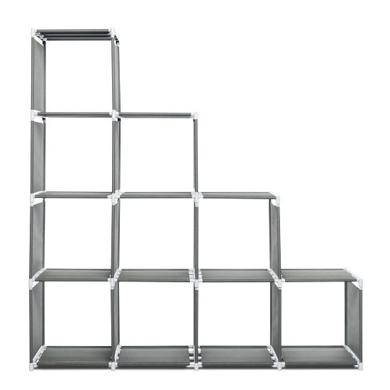 Vetra Display Stand In Anthracite With 10 Compartments_3