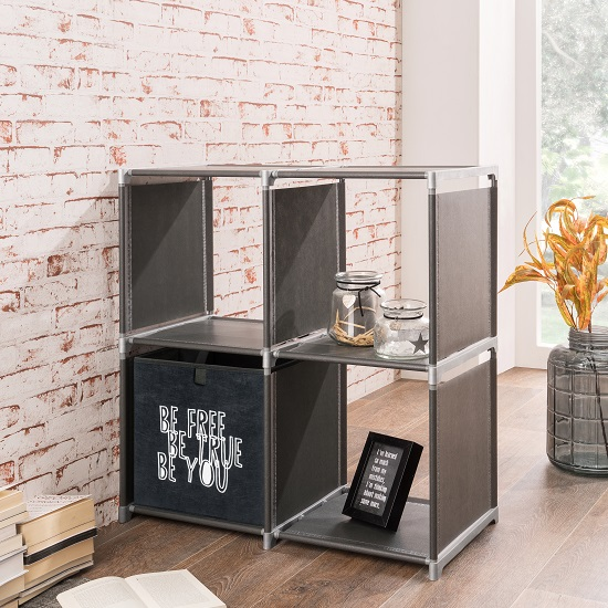 Photo of Vetra shelving unit square in anthracite with 4 shelf