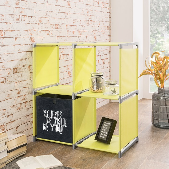 Photo of Vetra shelving unit square in apple green with 4 shelf