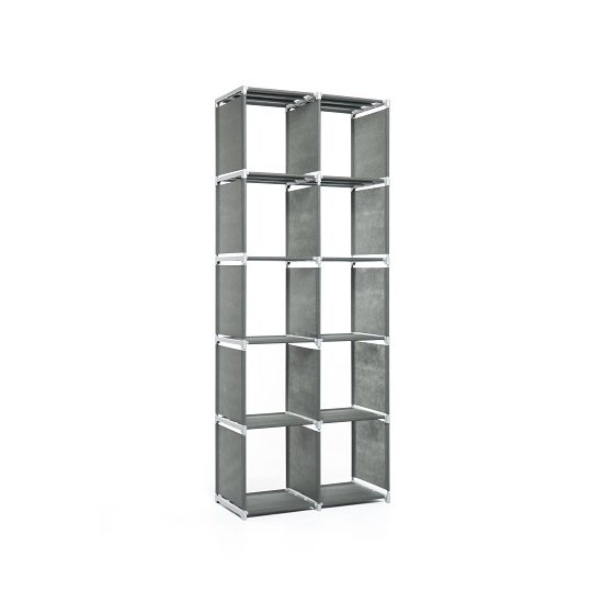 Vetra Shelving Unit Tall In Anthracite With 10 Compartments_2