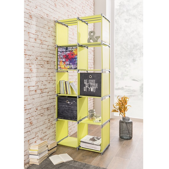 Photo of Vetra shelving unit tall in apple green with 10 compartments