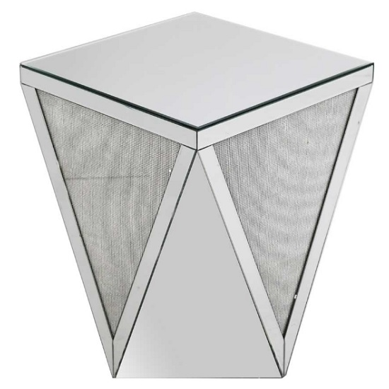 Vicenza Modern Mirrored Square Top End Table