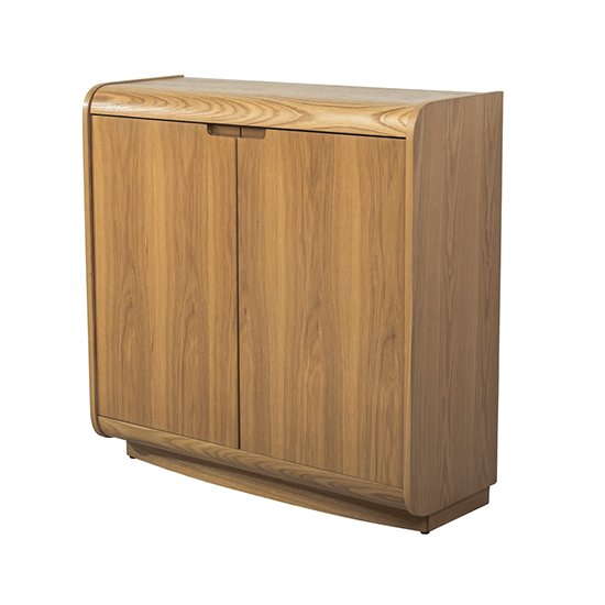 Vikena Wooden Filing Cabinet In Oak With 2 Doors_2