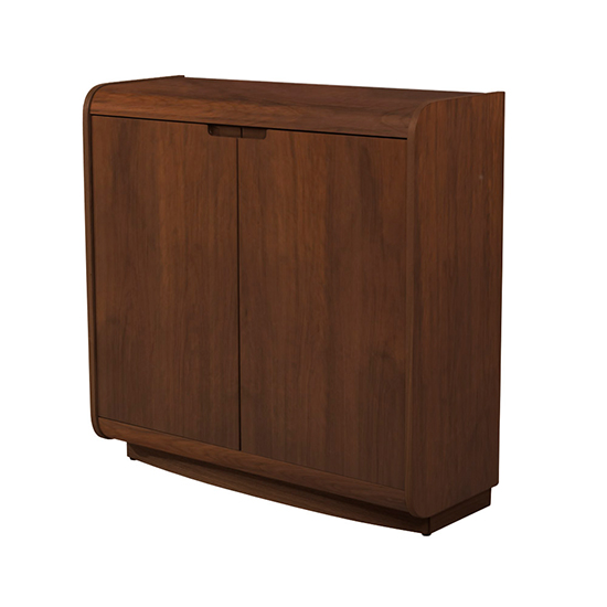 Vikena Wooden Filing Cabinet In Walnut With 2 Doors_2