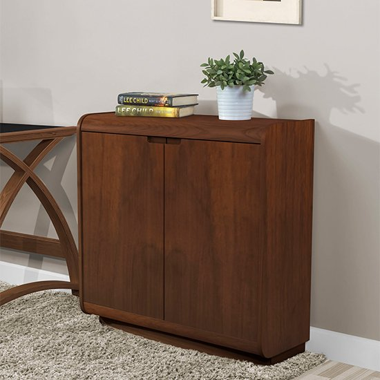 Vikena Wooden Filing Cabinet In Walnut With 2 Doors_1