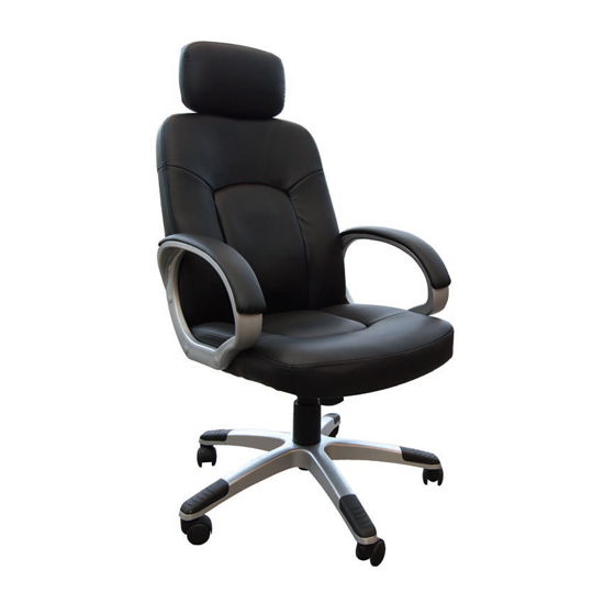 Viking Leather Air Office Chair In Black