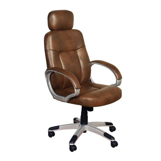 Viking Leather Air Office Chair In Tan
