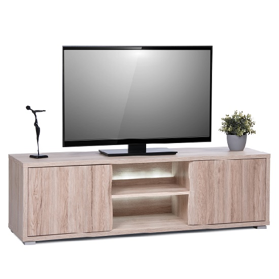 Villa LCD TV Stand In Sanremo Oak With LED Lighting