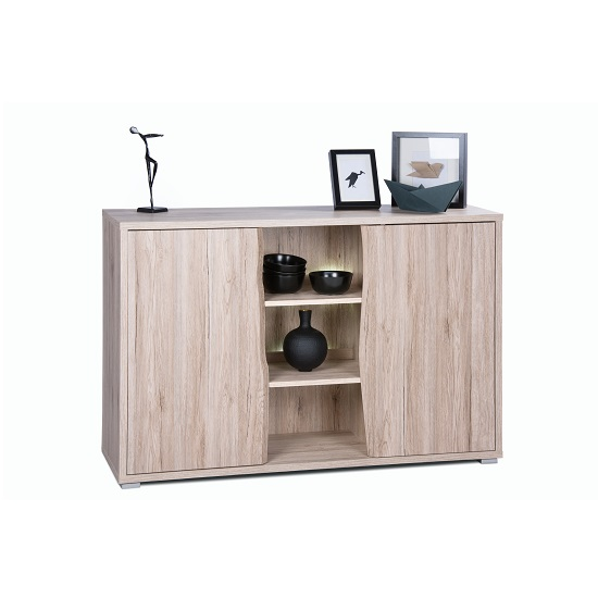 Villa Sideboard In Sanremo Oak With 2 Doors And LED Lighting_1